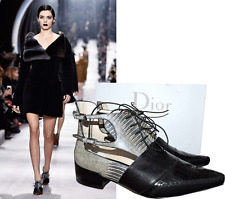 $1495 CHRISTIAN DIOR Nomade Ankle Booties Flat PUMP SHOES 39 RUNWAY BOOTS