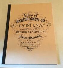 Illustrated Bartholomew County Columbus Indiana 1879 Atlas Reprint New Shape