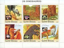 Guinea-Bissau Dinosaurs Stamps 2003 MNH Dinosaur Prehistoric Animals 6v M/S