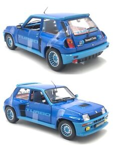 1/18 Solido Renault 5 Turbo Blue 1981 4 Openable New Box Free Shipping Home