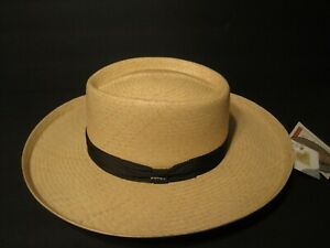 Scala Genuine Panama straw gambler golf Hat Handwoven in Ecuador SMALL