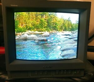 """Sony PVM-14M6U 14"""" PAL NTSC CRT Video Monitor Tested Fully Working Great Cond"""