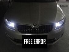 2x T10 W5W 9SMD LED Sidelights Bulbs Parking Lights White 6000K Free Error Skoda