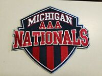 Michigan AAA Nationals Hockey Iron On Patch, New