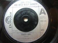 "John Otway and Wild Willy Barrett – Really Free 1977 7"" Polydor 2058 951"