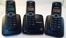 Motorola L603M -3 Cordless Home Phone Set- Detect 6.0 Handset Phones { NEW }