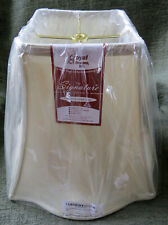 """Royal Designs Fancy Square Bell Lamp Shade Beige 14"""" x 11.5"""" - New"""