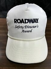 Vintage Roadway Snapback Truckers Hat Cap White Safety Directors Award VGC USA