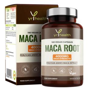 Maca Root 4000mg 180 Capsules Maximum Strength for Energy increase sex drive