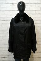 BURBERRY 44 Donna Giubbotto Cappotto Nero Giacca Jacket Woman Black Parka Trench