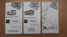► TEC Namur, 3 guides horaire ligne 142b, Namur - Ramillies - Jodoigne
