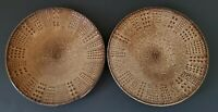"Gourmet Basics by Mikasa Daymon Mocha Stoneware Salad Plates 8 1/2"" Set of Two"