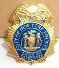 NYPD Police Chief of Detectives MINI badge shield LAPEL PIN not coin