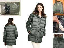 NWT Lands End Womens Insulated Parka Coat Large 14-16 Tall L/T