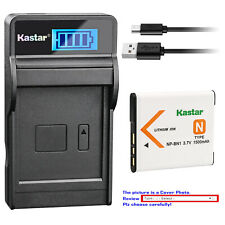 Kastar Battery LCD USB Charger for Sony NP-BN1 BC-CSN & Sony Cyber-shot DSC-W630