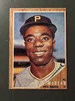 1962 Topps #424 Al McBean Rookie Pittsburgh Pirates EX