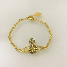 Vivienne Westwood Mayfair Bas Relief Bracelet - Gold/ Gunmetal