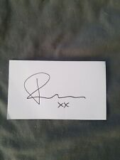 Rachelle Lefevre Signed 3x5 Index Card Twilight Under the Dome Signature Cut