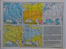1961 SOVIET MAP EUROPEAN RUSSIA CLIMATE ISOTHERMS TEMPERATURE DURATION SNOW