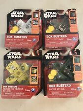 Lot of 4 Star Wars Box Busters Set Battle of Yavin Endor Hoth Rebels Tie Attack