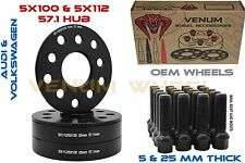 1999-2017 Volkswagen Jetta 5mm & 25mm Wheel Spacer Staggered Kit Extended Bolts