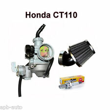 HONDA CT110 CARBURETOR CT 110 AIR FILTER SPARK PLUG PERFORMANCE PACK