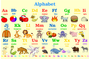 Alphabet Poster Chart Educational Laminated A4