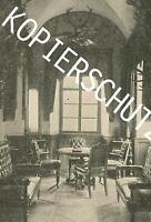 Empfangssalon im Schloss Leutstetten - Starnberg - um 1915 - A 28-25