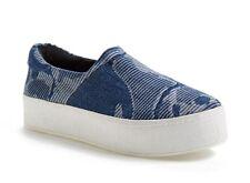 Opening Ceremony New Denim Slip-On Platform Sneakers Womens US11 EU40 ($225)