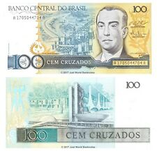 Brazil 100 Cruzados 1987 P-211c Banknotes UNC