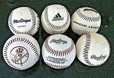 Baseballs Used Yankees Official League Balls 6 Cork Rubber Mac Gregor Rawlings