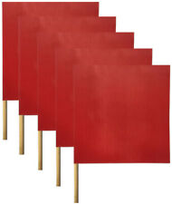 (5 PK) Oversize Load Traffic Safety Flags Warning Signs - 18 x 18 - Heavy Mesh