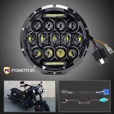 DOT 7inch 75W Round LED Headlight Motorcycle Lamp For Harley Davidson JK Hummer