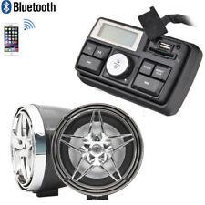 Handlebar Audio System FM Radio MP3 Stereo 2 Speaker for Honda Motorcycle Bike