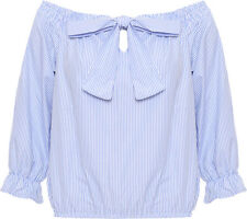 Short Sleeve Striped Casual Tops & Shirts for Women