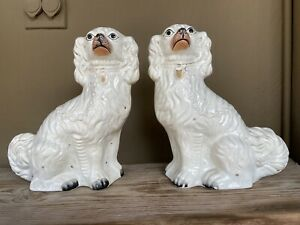 Pair of Antique Victorian Staffordshire spaniels