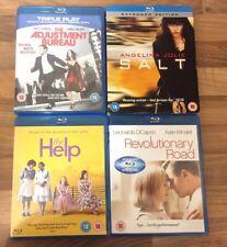 4x Blu ray Bundle Job Lot The Help, Salt, Revolutionary Road, Adjustment Bureau,