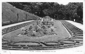 Italian Gardens Saltburn-by-the-sea Real Photo Vintage Postcard 1955.