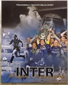 INTER FC  LIBRO FRANCOBOLLI DELLO SPORT  BOLAFFI SOLO ALBUM