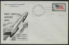 s554) Raketenpost USA 1959 SPECIMEN 1st US Official Missile Mail 2x sign Bolaffi