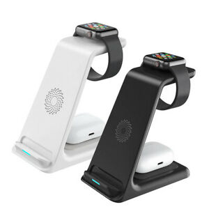 Wireless Charger Dock Charging Station 3 in 1 For Apple Watch iPhone 13 12 11 XS