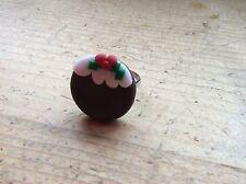 Anillo Pudding Ajustable Hecho A Mano Navidad Navidad festiva Partido llenador de la media
