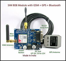 SIM 808 GSM/GPRS/GPS Module with Free GPS and GSM Antenna better than SIM908