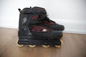 K2 Fatty SC aggressive inline skates - Rollerblades skating Oxygen Valo