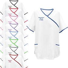 Kasack Paspel mit Namen bestickt Schwesternhemd Schwesternkleidung Kittel NEU