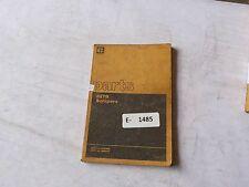 Cat 627B Scrapers Parts Book 37V1 to 37V636, 36V1 to 36V871