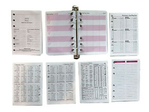 A6 Diary Inserts 2022  suitable  for Mulberry Agenda 97x142mm (94 Pages)C Weekly