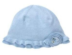 Janie and Jack Enchanted Garden Rosette Hat 2T-3T Solid Blue NWT