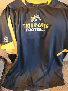 HAMILTON TIGER CATS WARM UP SHIRT PLAYDRY RBK LARGE PLAYER TAG SEE PHOTOS