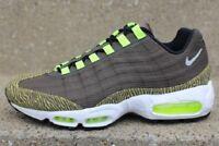 Nike Air Max 95 Premium Sneakers New, Newsprint Grey / Lime 599425-001 sku AA
